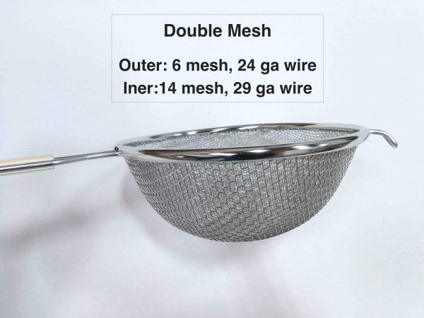 strainer 6 inch double layer